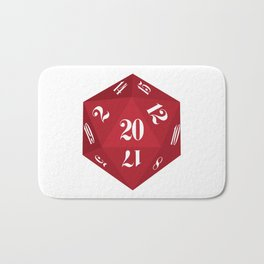 Red 20-Sided Dice Bath Mat