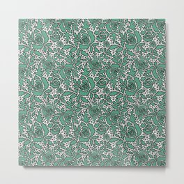 Black and green lace Metal Print