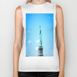 My Friend Lady Liberty In The City  Biker Tank