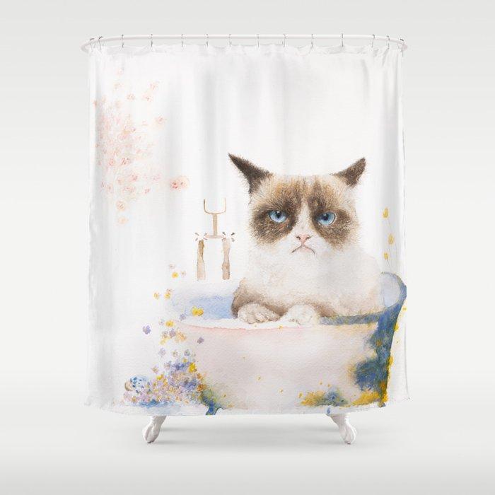 Helga's Bath Time Shower Curtain