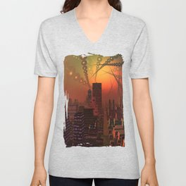 Spherople Alien City Unisex V-Neck