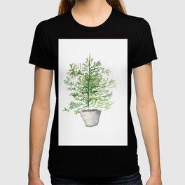 Christmas Tree in Galvanized Bucket T-shirt