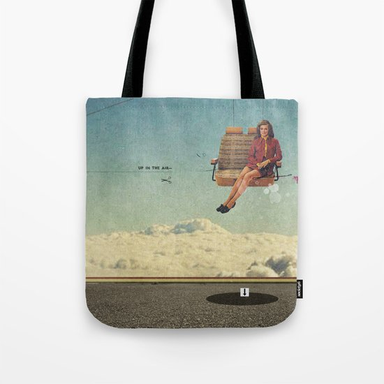 Up In The Air | Collage Tote Bag