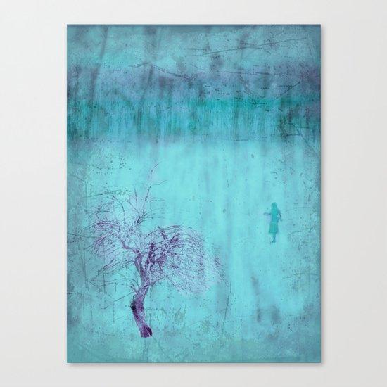 Walking ~ Abstract Shiraz series Canvas Print