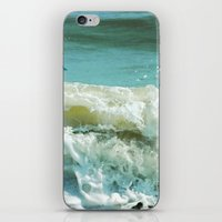 wave iPhone & iPod Skins featuring Wave by Bella Blue Photography