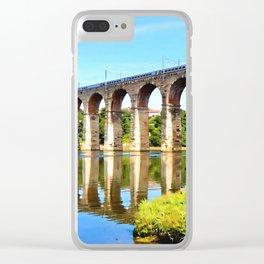 Royal Border Bridge Clear iPhone Case
