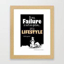 Inspirational failure Framed Art Print