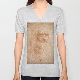 Classic Art - Leonardo da Vinci by Leonardo da Vinci Unisex V-Neck