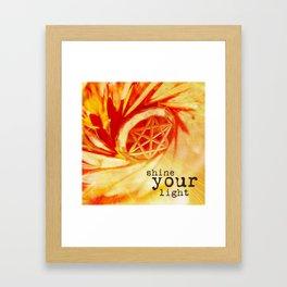 shine your light Framed Art Print