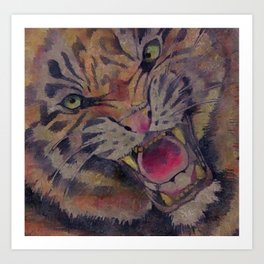 01PA01 | Tiger | Painting of Tiger | Artist Amiee Art Print