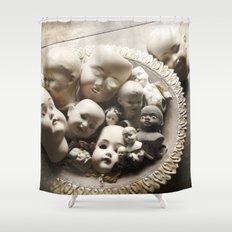 Rucus Studio Antique Doll Heads Shower Curtain