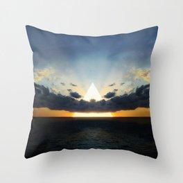 Abstract Environment 03: Volcano Throw Pillow