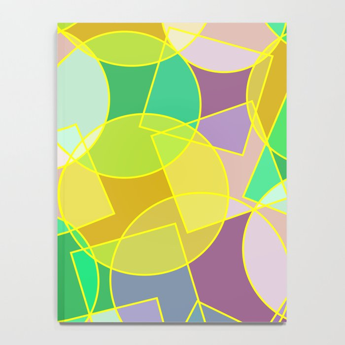 Colorful abstract geometric pattern Notebook