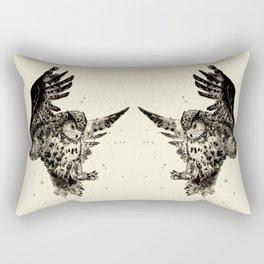 Owl Ink Rectangular Pillow