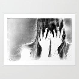 Shy. Hiding. Art Print