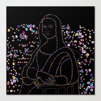 mona lisa Canvas Prints featuring Mona Lisa by Ornaart