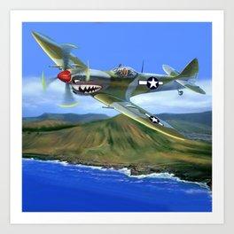 Spitfire Soars Over Hawaii Art Print