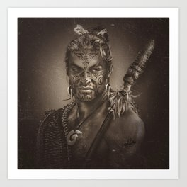 Native series: Jason Momoa Maori Art Print