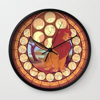 simba Wall Clocks featuring Simba by NicoleGrahamART