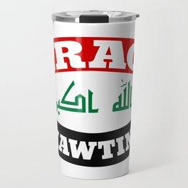 Iraq My Homeland Banner Travel Mug