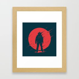 Red Sphere Framed Art Print