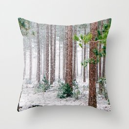 Winter Forest (Color) Throw Pillow