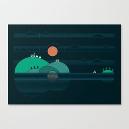 Island Folk Canvas Print