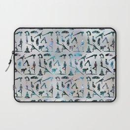Yoga Asanas / Poses Sanskrit Word Art  Labradorite on pearl Laptop Sleeve