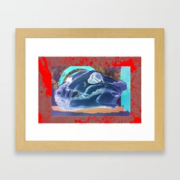 Tiger Skull Framed Art Print