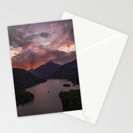 Diablo Lake Sunset Rays Stationery Cards