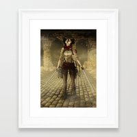 mikasa Framed Art Prints featuring Mikasa by Tracey T