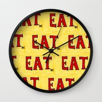 soul eater Wall Clocks featuring Eater by ROTT