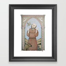 Saint Francis of Assisi Framed Art Print