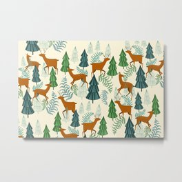Deers in the forest Metal Print