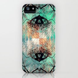 autumn tree - vessel pattern 2 iPhone Case
