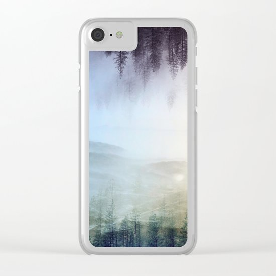 flipped forest Clear iPhone Case