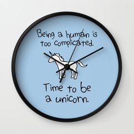 Time To Be A Unicorn Wall Clock