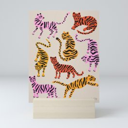 Tiger Collection – Pink & Yellow Palette Mini Art Print