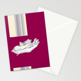 la main et la fraise Stationery Cards