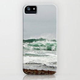 Explosive Green Surf of the St-Lawrence iPhone Case