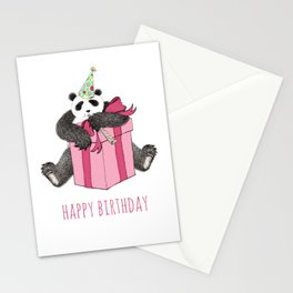 Birthday Panda Stationery Cards