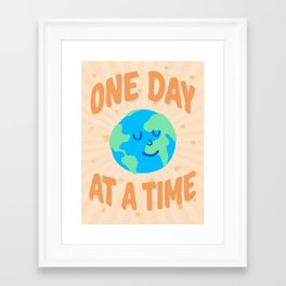 """""""One Day at a Time"""" inspired by Ariane Goldman, Hatch Framed Art Print"""