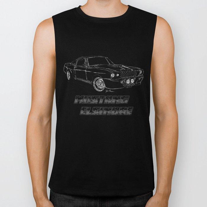 Mustang Elsinore line drawing Biker Tank