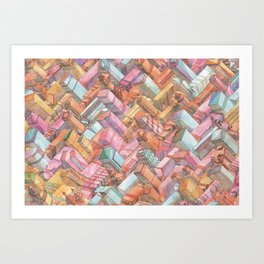 Zig Zag New York City Art Print