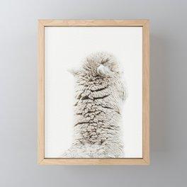 Alpaca Back Framed Mini Art Print