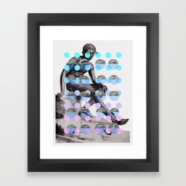 Statue With A Dot Gradient 2 Framed Art Print
