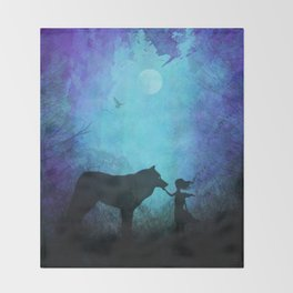 Wolf Whisperer Throw Blanket