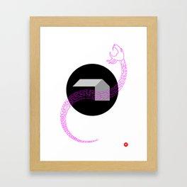 HelloHorror Issue 9 Cover Detail - doom awaits Framed Art Print