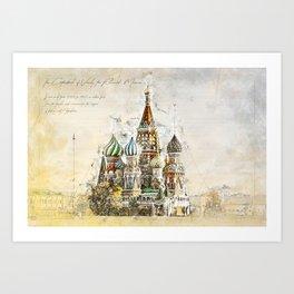 Saint Basil, Moscow Russia Art Print