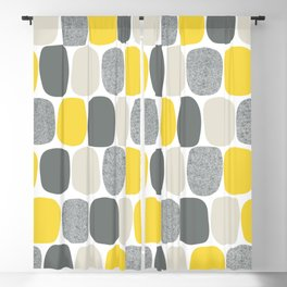 Wonky Ovals in Yellow Blackout Curtain
